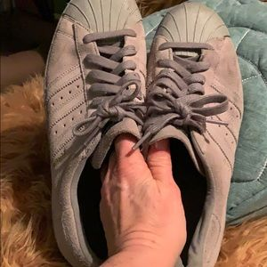 Adidas gray suede shell toed superstar 80s Berlin